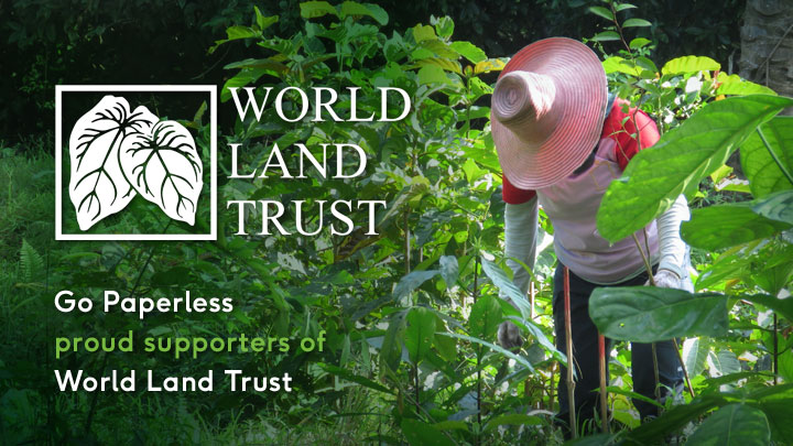 Go Paperless are proud supporters of World Land Trust